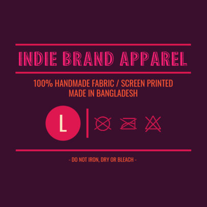 Label Design Template for a Clothing Label Design 1141c