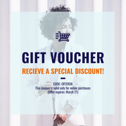 Coupon Design Template for a Women's Gift Voucher 1015c-1819