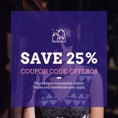 Customizable Coupon Template for a Fashion Brand 1015d