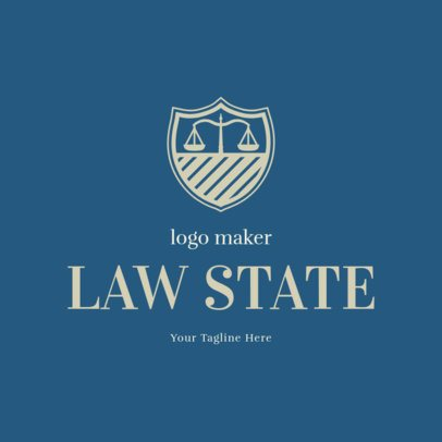Law Firm Logo Generator with Justice Icons 1854
