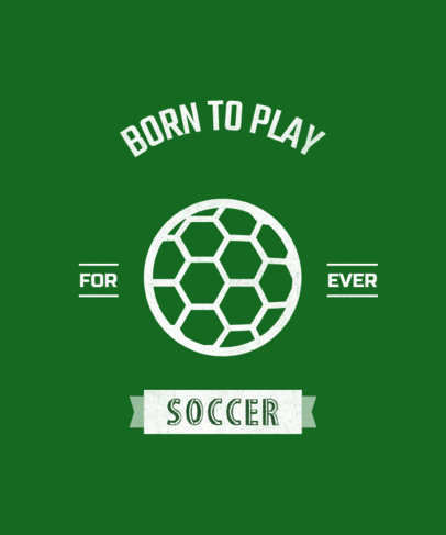 Tee Design Maker for Soccer Players 484h