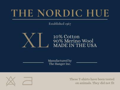 Design Template for an Elegant Clothing Label Design 1148