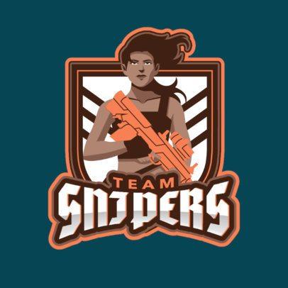eSports Logo Creator for a Shooting Game Team 1744d