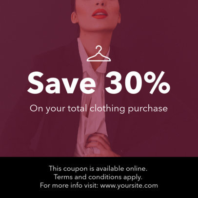 Customizable Coupon Template for an Online Sale 1022a