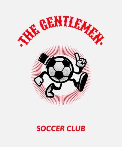 Soccer T-Shirt Design Template for Soccer Clubs 444f
