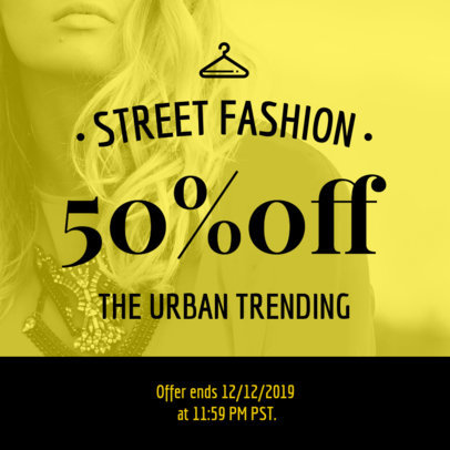 Discount Coupon Template for a Street Fashion Brand 1022d