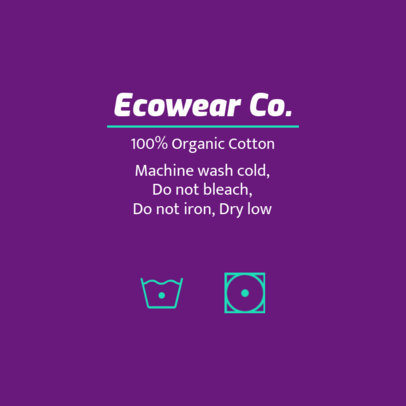 Eco-Friendly T-Shirt Label Design Maker 1138d