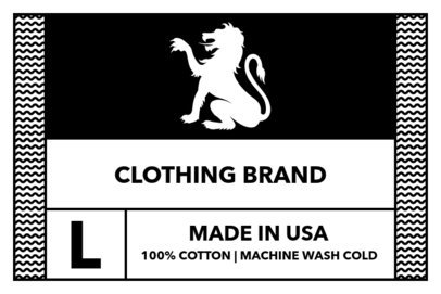 T-Shirt Label Design Template with Griffin Clipart 1143d