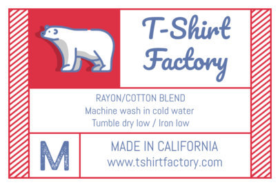 Clothing Label Design Generator for a T-Shirt Brand Tag 1143e