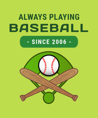 Baseball Fan T-Shirt Design Maker 906f