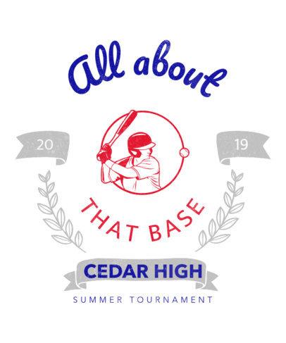 Sports T-Shirt Design Maker for Baseball Players 5f