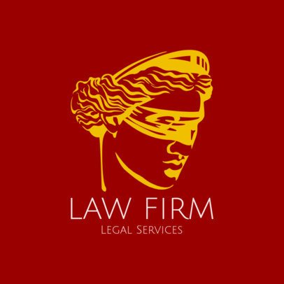 Law Firm Logo Maker Featuring a Lady Justice Image 1851