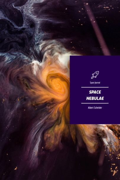 Book Cover Maker with Space-Related Features 1194a