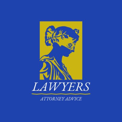Logo Maker for a Law Firm with a Lady Justice Seal 1851e