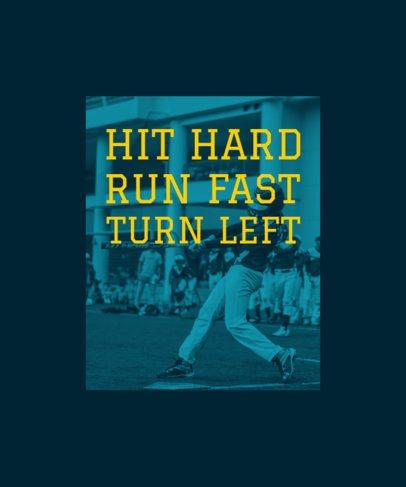 T-Shirt Design Maker for Baseball Fans 41f