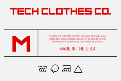Design Template for a Techie Clothing Label Design 1140b
