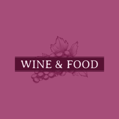 Online Logo Maker for a Wine Bar with Grape Illustration 1022b