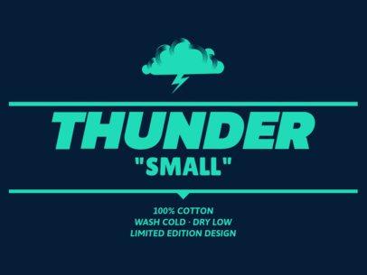 Simple T-Shirt Label Design Creator 1144d