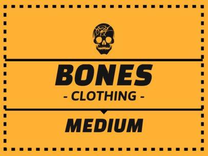 Cool T-Shirt Label Design Template for Rocker Clothing Brands 1144e