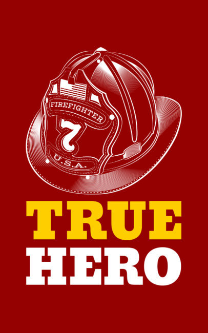 Firefighter T-Shirt Design Maker 1152f