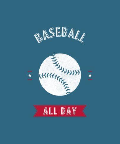 Baseball Tee Design Template for Fans 484k
