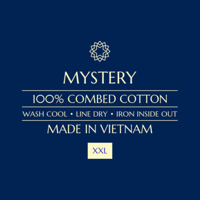 Basic Clothing Label Design Maker 1136b