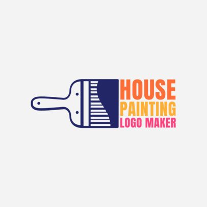 Logo Generator for Residencial Painting Business 1436b