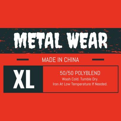 T Shirt Label Maker Design Templates Placeit