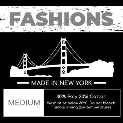 Trendy Clothing Brand Label Design Maker for Fashion Brands 1147d