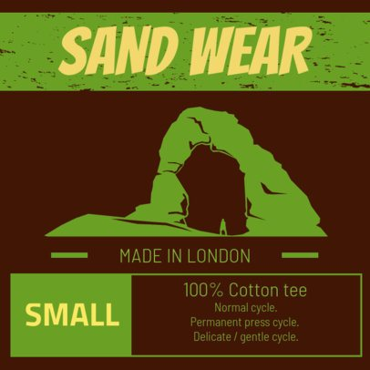 Clothing Brand Label Design Creator for Outdoor Retailers 1147e