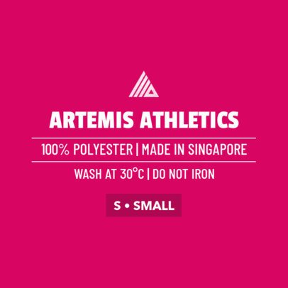 Athletic Clothing Label Design Template 1136e
