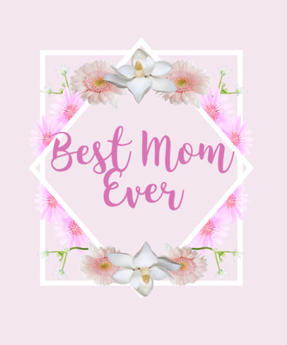 Adorable Mother's Day T-Shirt Design Template 479g