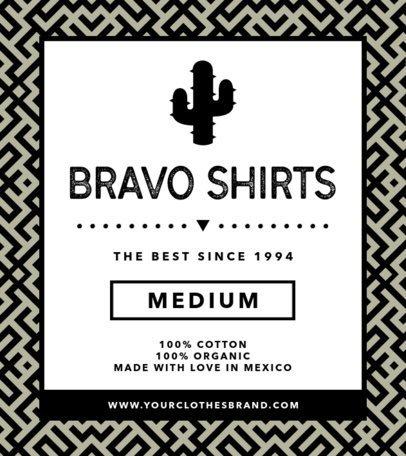 T-Shirt Label Design for a Juvenile Clothing Brand 1134