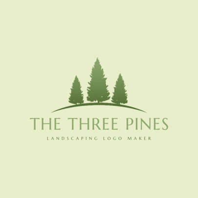 Lawn Care Logo Creator with Tree Clip Art 1423b