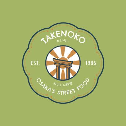 Japanese Food Logo Maker for Asian Street Food 1817a