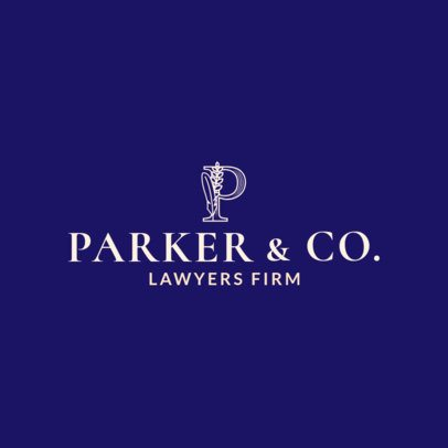 Law Firm Logo Maker with Artistic Letter 1853