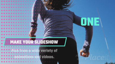 Slideshow Video Maker with Intertwined Motion Graphics 1417