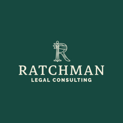 Law Firm Logo Maker with Classic Design 1853e