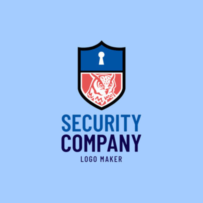 Security Company Logo Maker with Owl Icon 1788