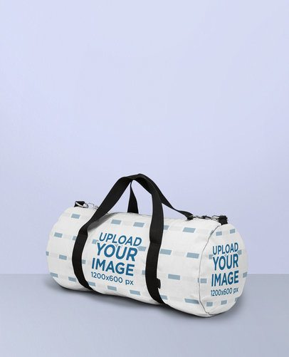Duffle Bag Mockup Lying in a Multicolored Surface 25170