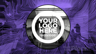 Logo Animation Video Maker with Psychedelic Motion Graphics 1426