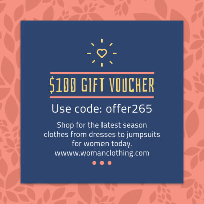 Design Template for a Gift Code Voucher 1020a