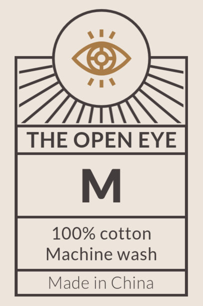 T-Shirt Label Template with Third Eye Graphics 1046