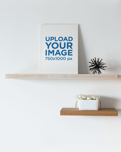 Canvas Art Mockup Standing against a Minimalist  Wall 25873