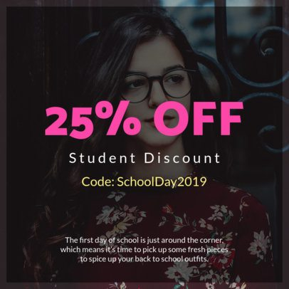 Code Coupon Design for a Students Only Promo 1025c