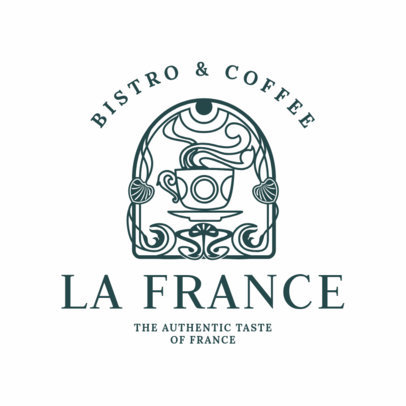French Restaurant Logo Maker with an Art Nouveau Style 1809