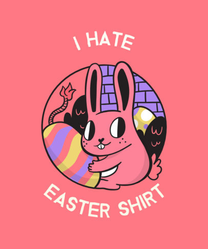 Ironic Easter T-Shirt Design 830f