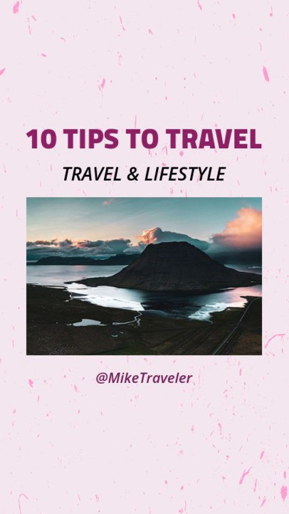 Instagram Story Template for a Travel and Lifestyle Blog 962d