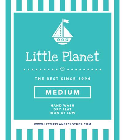 T-Shirt Label Design Maker for a Kids Clothing Line 1134a
