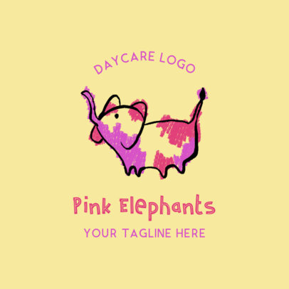 Day Care Logo Maker with Cute Animal Illustrations 1928